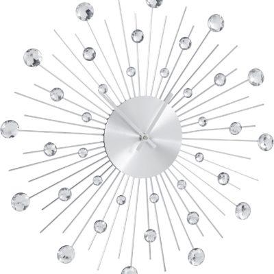 Zegar ścienny z dekoracyjnymi kamieniami