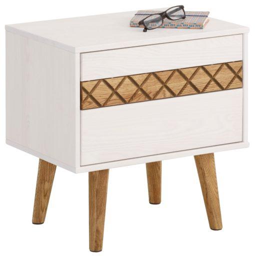 Przepiękna, mała komoda lub stolik nocny, z drewna