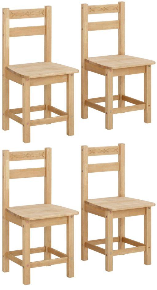 Ponadczasowe, sosnowe krzesła w naturalnym kolorze