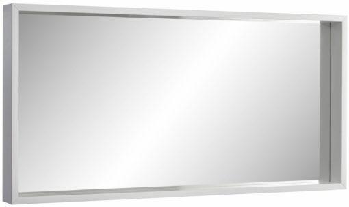 Lustro ścienne w białej ramie 100x50 cm
