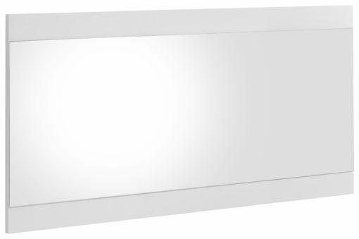 Duże, eleganckie lustro, rama w połysku, biała