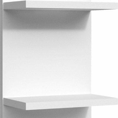 Kompaktowa półka/regał ścienny, biała
