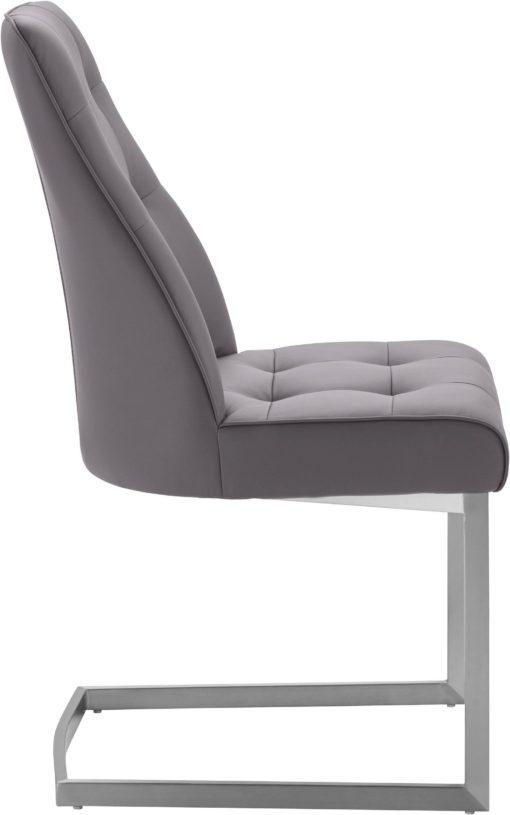 Nowoczesne krzesła na płozach z pikowaniem - 2 sztuki