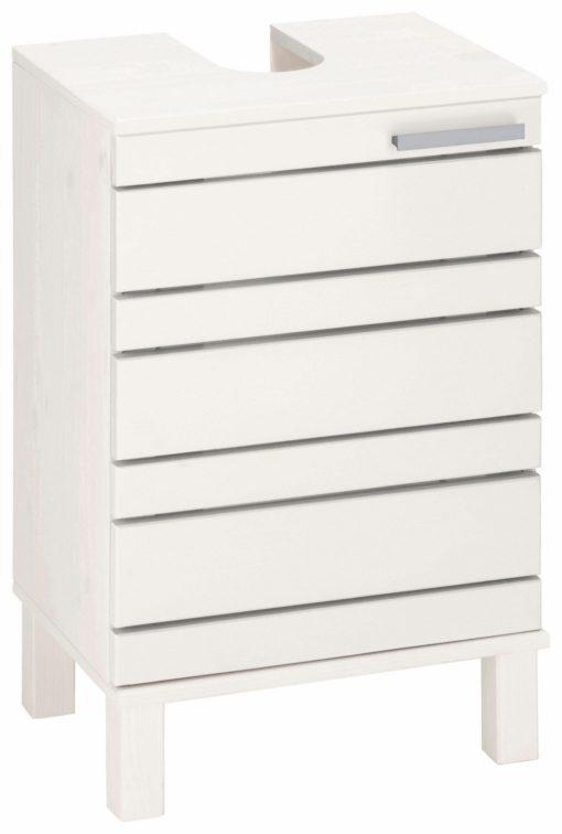 Atrakcyjna szafka pod umywalkę, biała