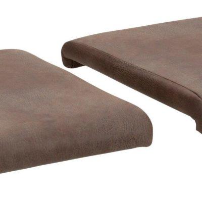 Miękkie poduszki na ławkę bądź krzesła - 2 sztuki, czarne