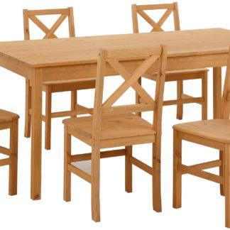 Stół do jadalni z sosny, 140 cm