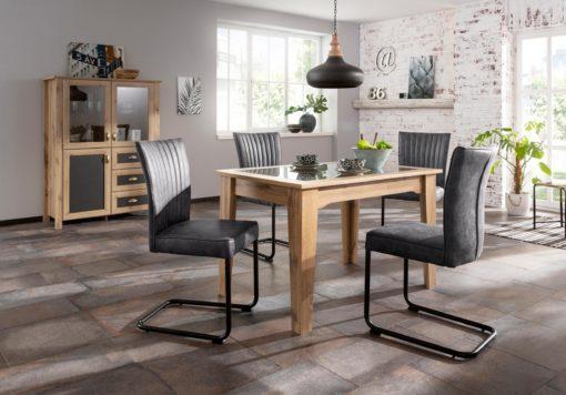 Stół z ciekawą kombinacją kolorów na blacie, 120 cm