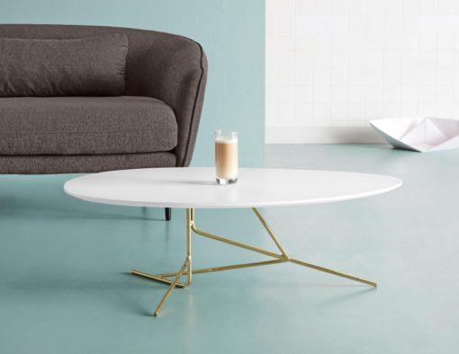 Elegancki stolik do salonu w kontrastującej kolorystyce