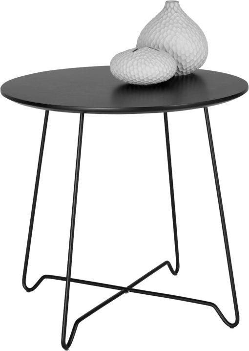 Minimalistyczny stolik w kolorze czarnym