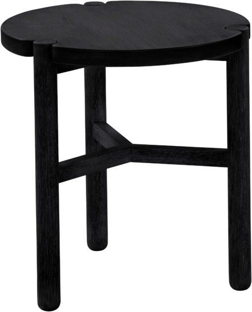 Okrągły stolik o skandynawskim designie, czarny