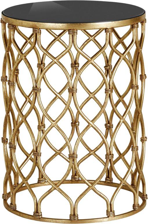 Elegancki stolik, złoty, w orientalnym stylu