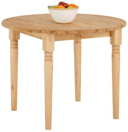 Okrągły, drewniany stół 100 cm