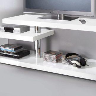 Szafka pod telewizor biała, nowoczesna