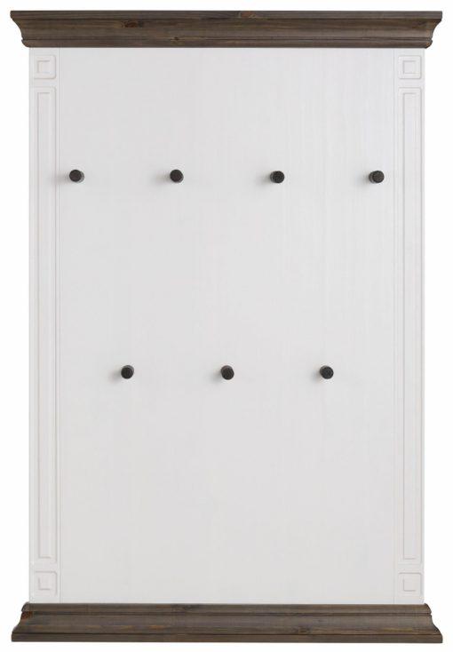 Sosnowy wieszak panelowy z haczykami