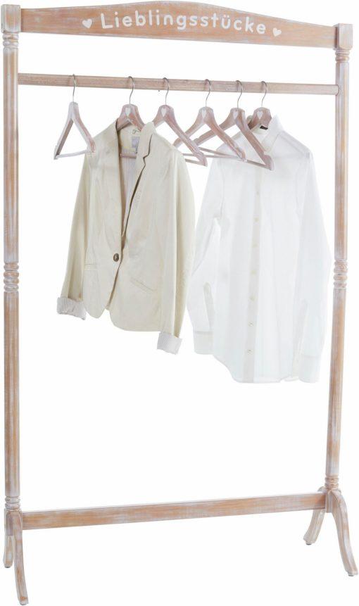 Romantyczny wieszak na ubrania z napisem