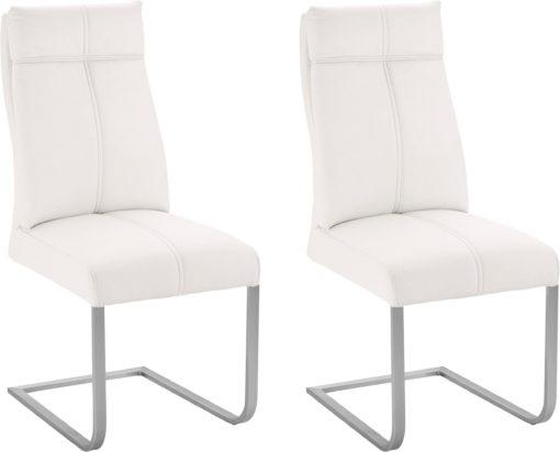 Niezwykle wygodne krzesła na płozach - 4 sztuki, białe