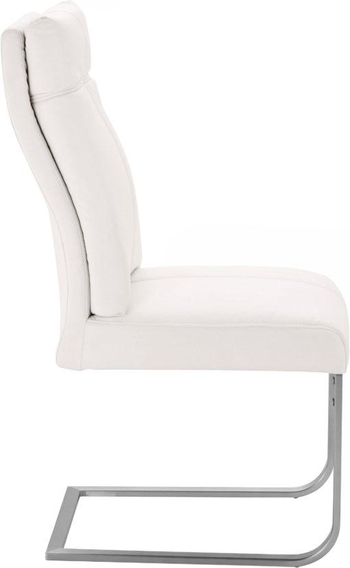 Niezwykle wygodne krzesła na płozach - 2 sztuki, białe