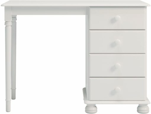Eleganckie biurko z szufladami, 100 cm, białe