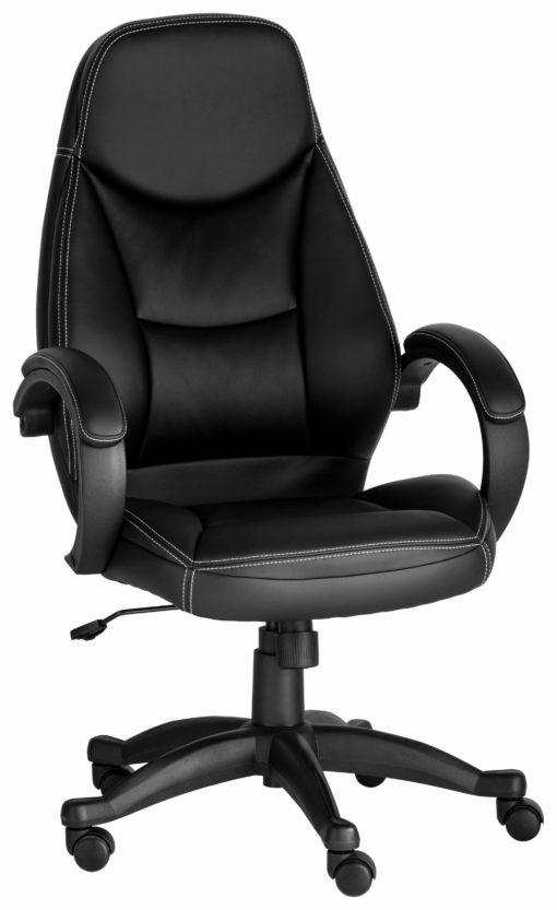 Obrotowy fotel biurowy, tapicerowany sztuczną skórą