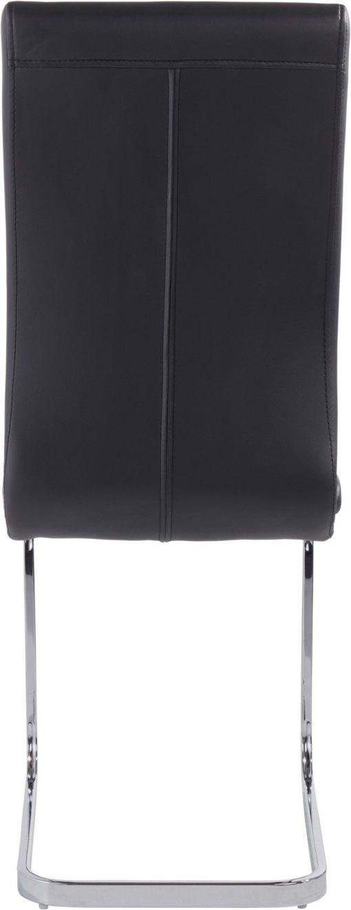 Czarne krzesła na płozach w nowoczesnym stylu - 4 sztuki