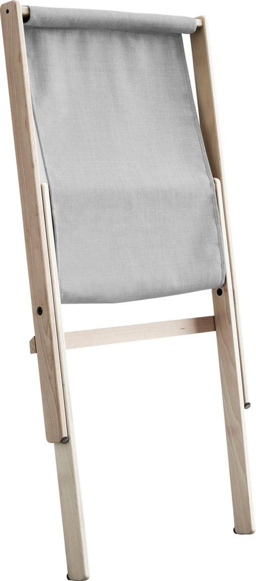 Stylowe krzesło składane z buku, z materacem futon