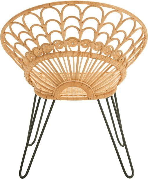 Przepiękny rattanowy fotel o ekstrawaganckim designie