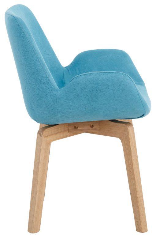 Wygodny fotel o fantazyjnym wyglądzie, turkusowy