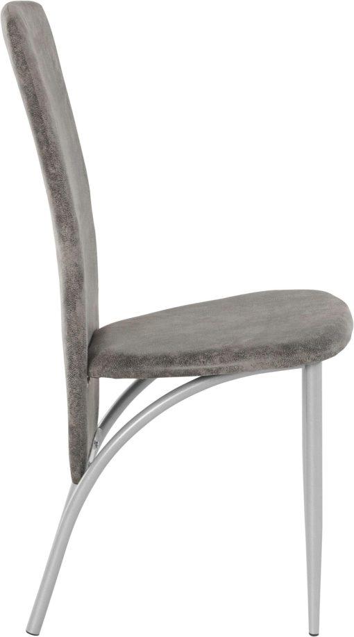 Futurystyczne, szare krzesła z metalową ramą - 4 sztuki