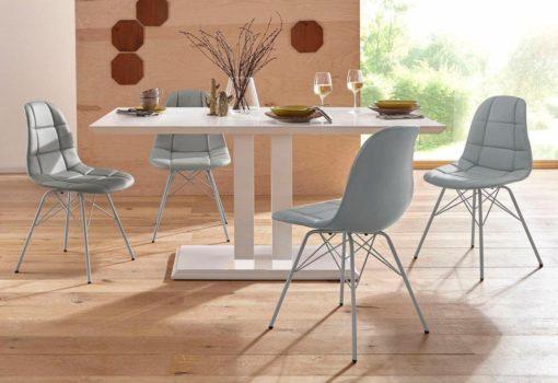 Eleganckie krzesła ze sztucznej skóry - 2 sztuki
