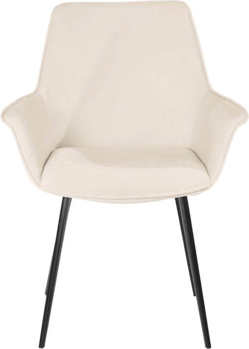 Wyjątkowe krzesła z miękkim poszyciem i metalowymi nogami - 2 sztuki