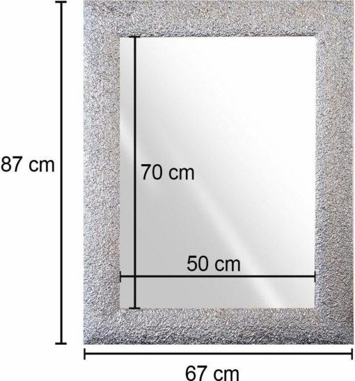 Lustro ścienne z błyszczącą ramą 87x67 cm