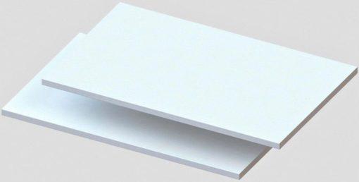 2 półki białe, do szafy lub regału