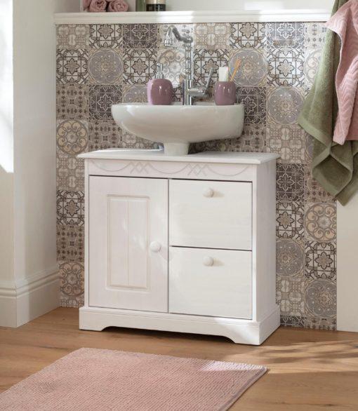 Szczególnie piękna sosnowa szafka pod umywalkę