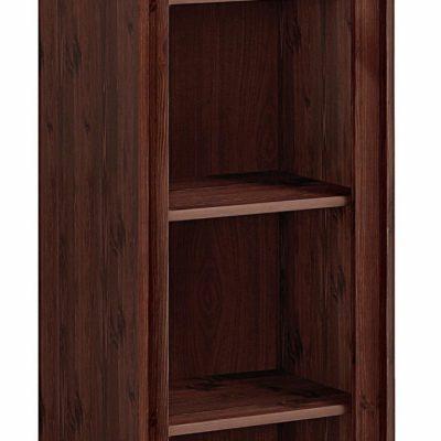 Dekoracyjny drewniany regał na książki, kolonialny