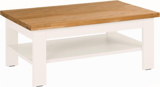 Prosty stolik do salonu z kontrastującym blatem