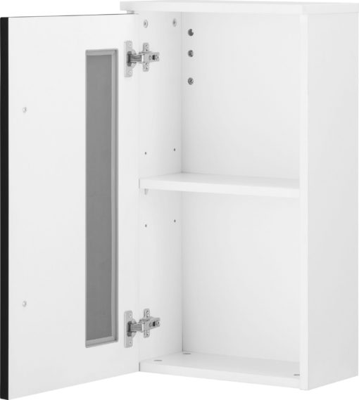 Wisząca szafka łazienkowa, czarno-biała