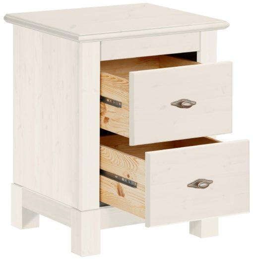 Sosnowa szafka nocna z dwiema szufladami