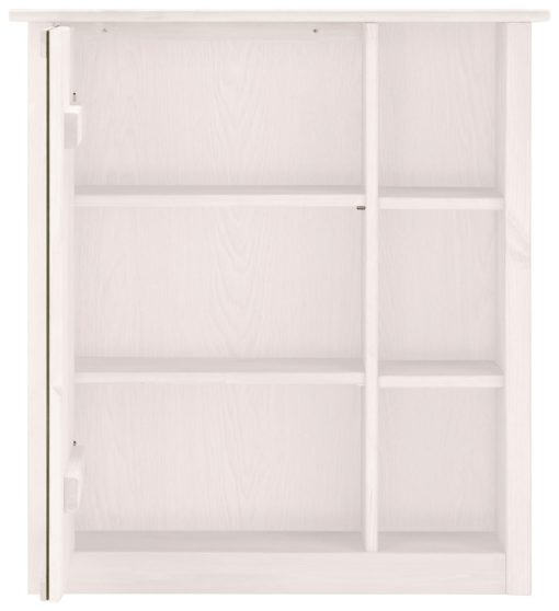 Szafka z lustrem w unikalnym stylu z półkami, biała