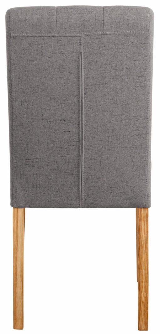 Eleganckie, tapicerowane krzesła z pikowaniem - 2 sztuki