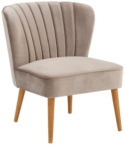 Stylowy tapicerowany fotel w stylu glamour