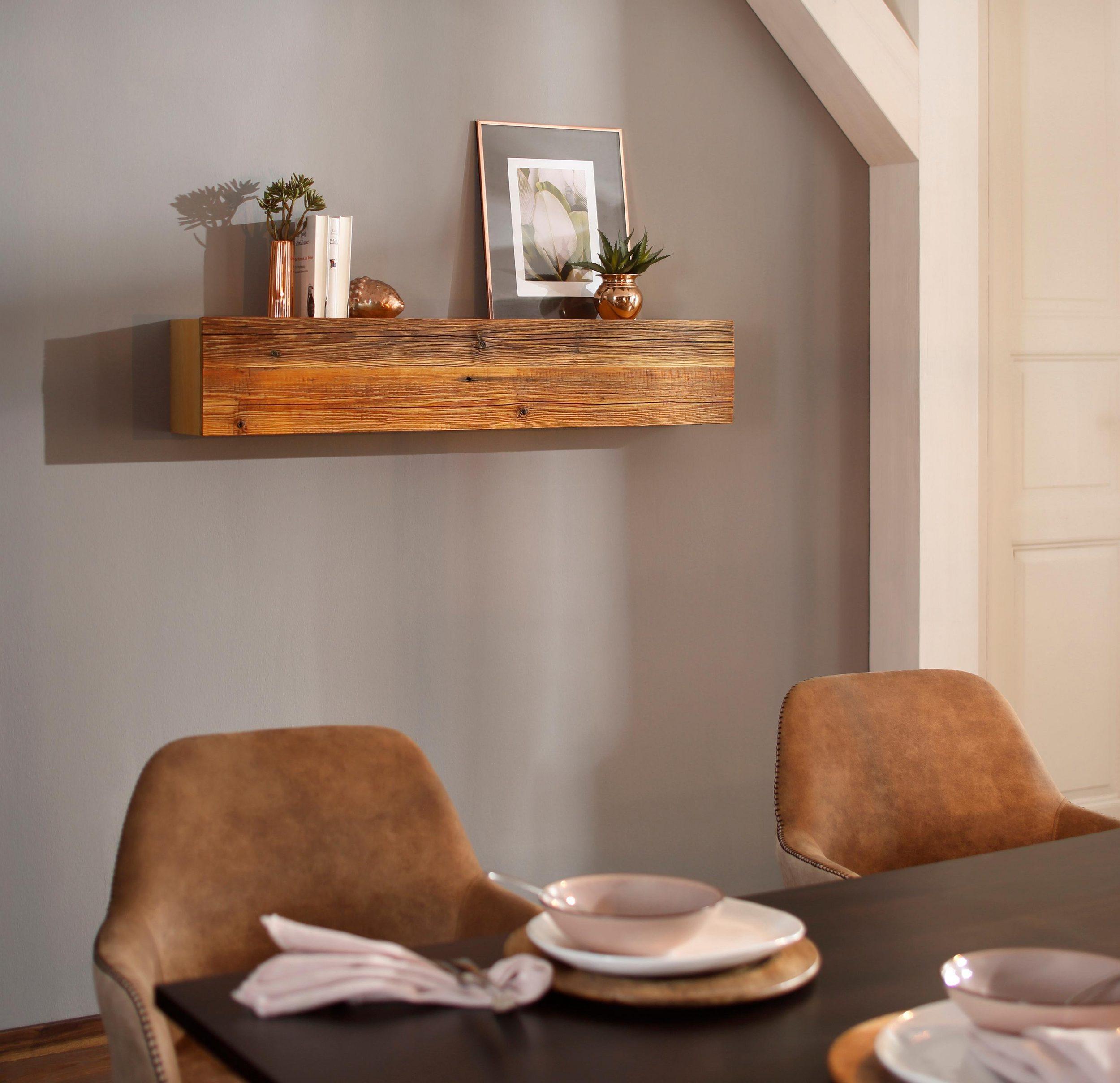Wyjątkowa Konsolapółka Na ścianę Z Litego Drewna