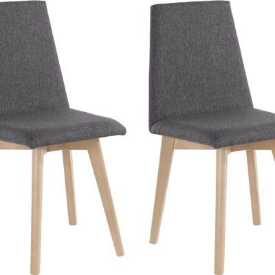 Krzesła szare, w skandynawskim stylu - 2 sztuki