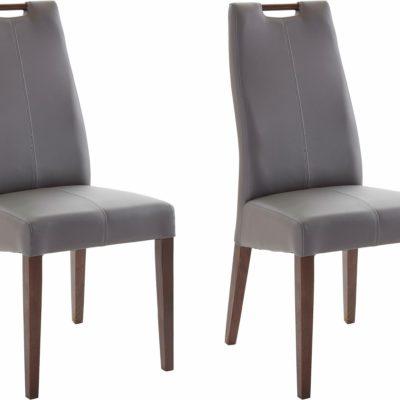 Szlachetne krzesła z syntetycznej skóry - 2 sztuki