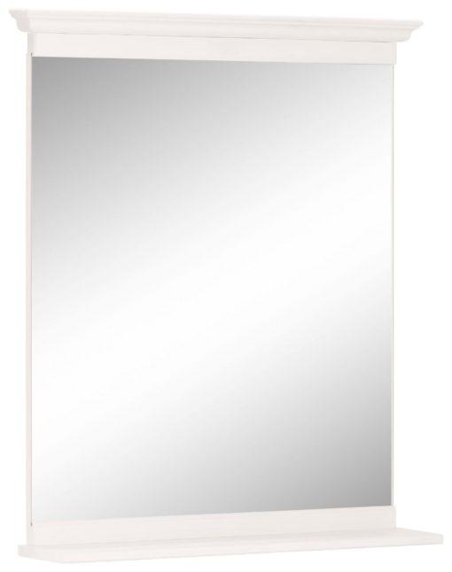 Eleganckie lustro z drewnianą ramą, w minimalistycznym stylu