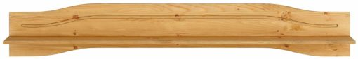 Sosnowa półka ścienna w stylu rustykalnym