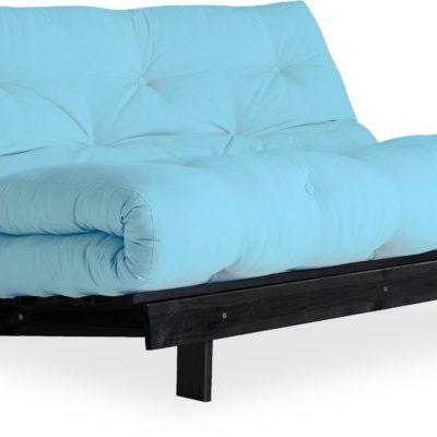 Nowoczesna i stylowa sofa z funkcją spania, niebieska