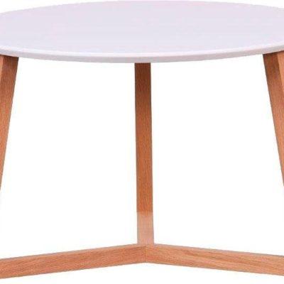 Ciekawy stolik kawowy na trójnożnej podstawie