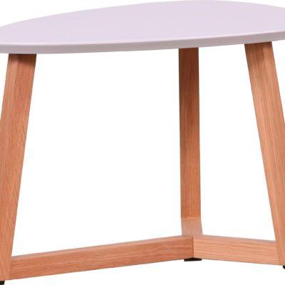 Unikalny stolik z szarym blatem, w kształcie migdała