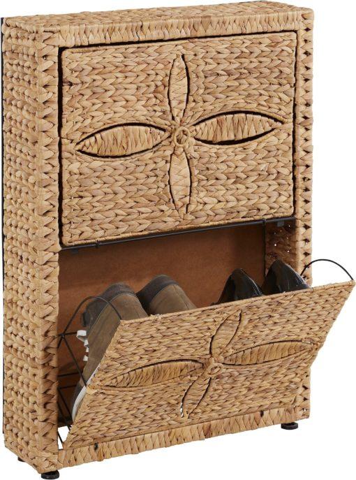 Bardzo ciekawa i naturalna szafka na buty z hiacyntu wodnego