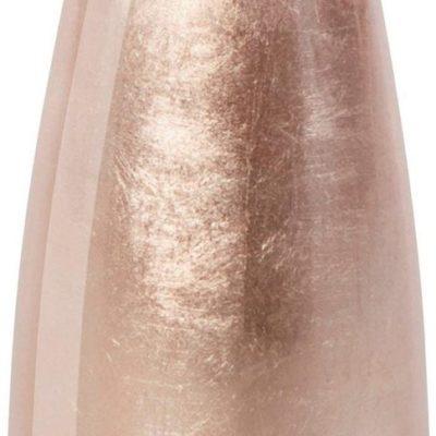 Modny, ceramiczny wazon w kolorze różowego złota